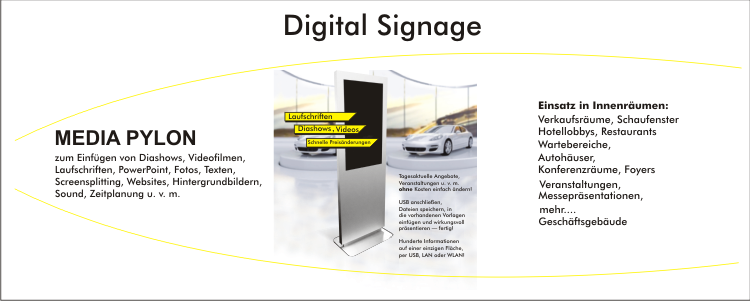 Mediapylon, Digital-Signage